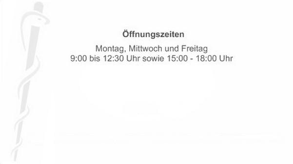 Mo, Mi & Fr 9:00 - 12:30 Uhr sowie 15:00 - 18:00